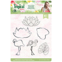 Crafter's Companion - Tropical Collection - Die and Clear Acrylic Stamp Set - Perfect Paradise