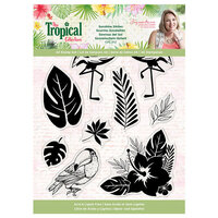 Crafter's Companion - Tropical Collection - Clear Acrylic Stamp - Love in Paradise