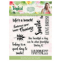 Crafter's Companion - Tropical Collection - Clear Acrylic Stamp - Sunshine Smiles