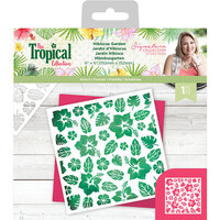 Crafter's Companion - Tropical Collection - Stencil - Hibiscus Garden