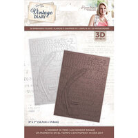 Crafter's Companion - Vintage Diary Collection - 3D Embossing Folder - A Moment In Time