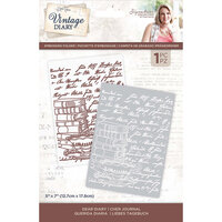Crafter's Companion - Vintage Diary Collection - Embossing Folder - Dear Diary