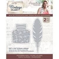 Crafter's Companion - Vintage Diary Collection - Dies - Feathered Quill