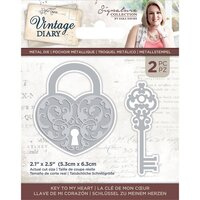 Crafter's Companion - Vintage Diary Collection - Dies - Key To My Heart