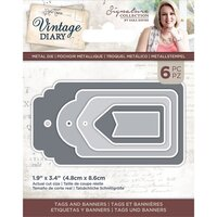 Crafter's Companion - Vintage Diary Collection - Dies - Tags and Banners