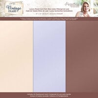 Crafter's Companion - Vintage Diary Collection - 12 x 12 Luxury Pearl Pad