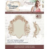 Crafter's Companion - Vintage Diary Collection - Stamp and Die - Antique Frame