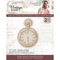 Crafter's Companion - Vintage Diary Collection - Stamp and Die - Pocket Watch
