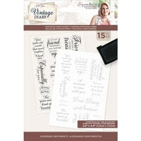 Crafter's Companion - Vintage Diary Collection - Clear Photopolymer Stamps - Adorning Sentiments