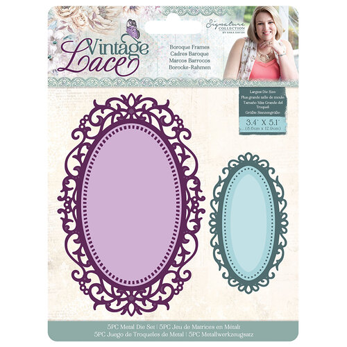 Crafter's Companion - Vintage Lace Collection - Metal Dies - Frame - Baroque