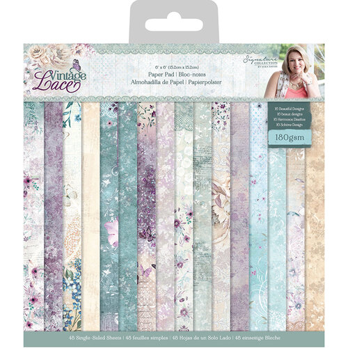 Crafter's Companion - Vintage Lace Collection - 6 x 6 Paper Pad