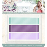 Crafter's Companion - Vintage Lace Collection - Satin Ribbon