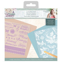 Crafter's Companion - Vintage Lace Collection - Rub Ons