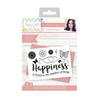 Crafter's Companion - Clear Photopolymer Stamps - Happiness