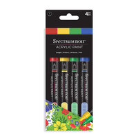 Crafter's Companion - Spectrum Noir - Acrylic Paint Markers - 4 Pack - Bright