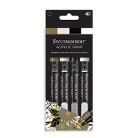Crafter's Companion - Spectrum Noir - Acrylic Paint Markers - 4 Pack - Essential