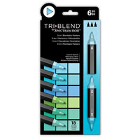 Crafter's Companion - Spectrum Noir - TriBlend Marker Set - Coastal Blends
