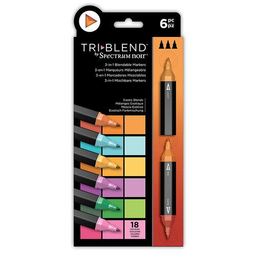 Crafter's Companion - Spectrum Noir - TriBlend Marker Set - Exotic Blends