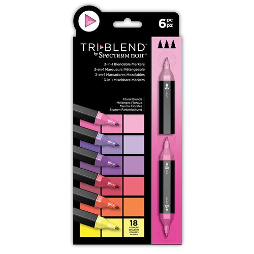 Crafter's Companion - Spectrum Noir - TriBlend Marker Set - Floral Blends