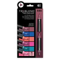 Crafter's Companion - Spectrum Noir - TriBlend Marker Set - Jewel Shades