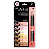 Crafter's Companion - Spectrum Noir - TriBlend Marker Set - Portrait Blends