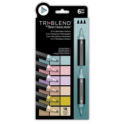 Crafter's Companion - Spectrum Noir - TriBlend Marker Set - Vintage Blends