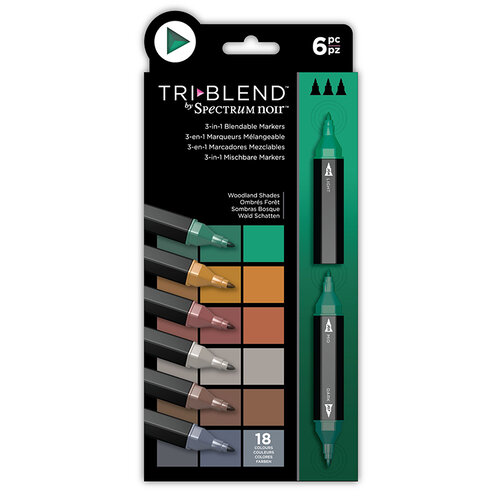 Crafter's Companion - Spectrum Noir - TriBlend Marker Set - Woodland Shades