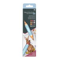 Crafter's Companion - Spectrum Noir - TriColour Aqua Markers - Essential Neutrals - 3 Pack