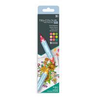 Crafter's Companion - Spectrum Noir - TriColour Aqua Markers - Floral Meadow - 3 Pack