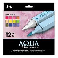 Crafter's Companion - Spectrum Noir - Aqua Markers Set - Floral