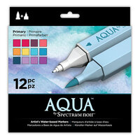 Crafter's Companion - Spectrum Noir - Aqua Markers Set - Primaries