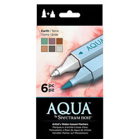 Crafter's Companion - Spectrum Noir - Aqua Markers Set - Earth