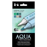 Crafter's Companion - Spectrum Noir - Aqua Markers Set - Landscapes