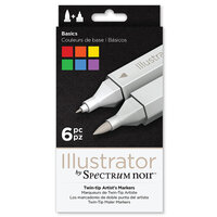 Crafter's Companion - Spectrum Noir - Illustrator Marker Set - Basics