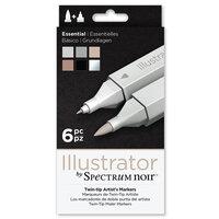 Crafter's Companion - Spectrum Noir - Illustrator Marker Set - Essentials