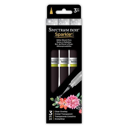 Crafter's Companion - Spectrum Noir - Sparkle Pens Set - Clear Overlay