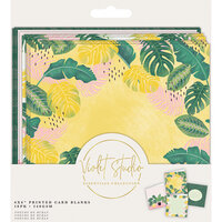Crafter's Companion - Violet Studio Tropical Collection - 6 x 6 Printed Card Blanks