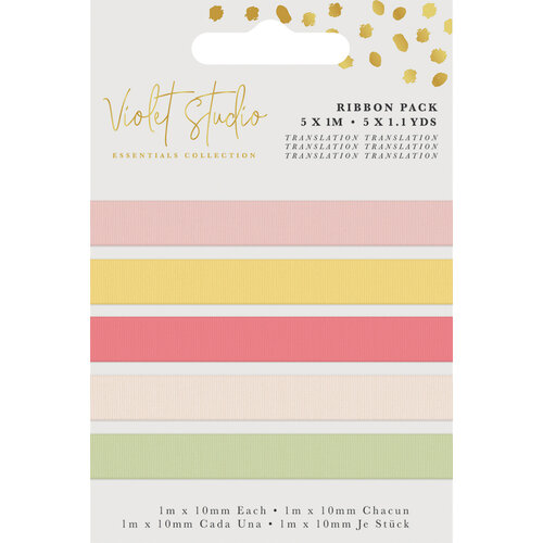 Crafter's Companion - Violet Studio Tropical Collection - Grosgrain Ribbon Pack