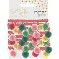 Crafter's Companion - Violet Studio Tropical Collection - Pom Pom Trim Pack