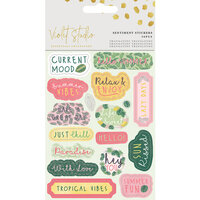 Crafter's Companion - Violet Studio Tropical Collection - Stickers - Sentiments