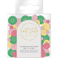 Crafter's Companion - Violet Studio Tropical Collection - Assorted Buttons