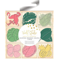 Crafter's Companion - Violet Studio Tropical Collection - Painted Wooden Shapes