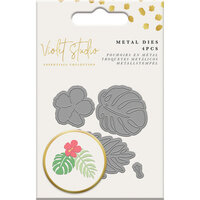 Crafter's Companion - Violet Studio Tropical Collection - Dies - Mini Die Set - Botanical Leaves