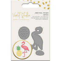 Crafter's Companion - Violet Studio Tropical Collection - Dies - Mini Die Set - Pineapple and Flamingo