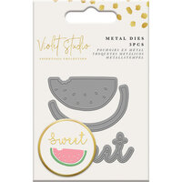 Crafter's Companion - Violet Studio Tropical Collection - Dies - Mini Die Set - Text and Watermelon