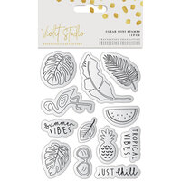 Crafter's Companion - Violet Studio Tropical Collection - Clear Photopolymer Stamps - Mini Stamp Set