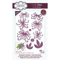 Creative Expressions - Craft Dies - Finishing Touches - Pom Pom Mums