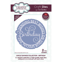 Creative Expressions - Craft Dies - Circle Sayings - Birthday