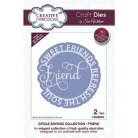 Creative Expressions - Craft Dies - Circle Sayings - Friend