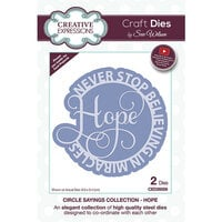 Creative Expressions - Craft Dies - Circle Sayings - Hope